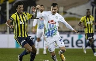 Fenerbahçe-Rizespor maçında tek gol