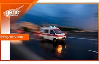 Girne-Alsancak yolunda kaza...Sürücü yaralandı