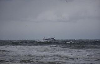 Karadeniz'de Rus bandıralı kuru yük gemisi...