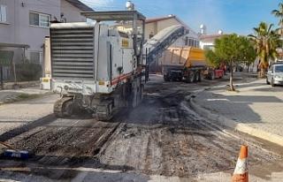 Tuzla'da asfaltlama çalışmaları