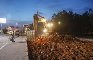Eşref Bitlis Caddesi'nde proje tamamlanıyor