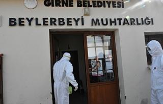 Girne'de ilaçlama çalışmaları