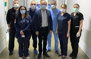 Ataoğlu'dan Gazimağusa Devlet Hastanesi'ne...