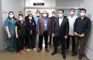 Başbakan Saner'den Gazimağusa Devlet Hastanesine...