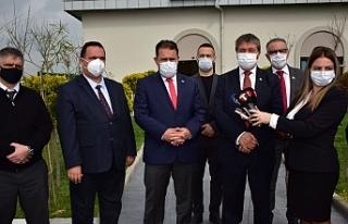 Başbakan Saner ve Sağlık Bakanı Üstel'den 14...