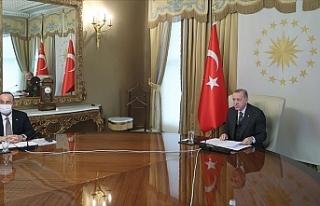 Erdoğan, AB Yönetimi ile görüştü...Kıbrıs...