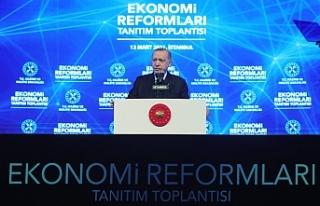 Erdoğan , Ekonomik reform paketini açıkladı