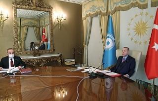 """Erdoğan: """"Güç birliği yaparak Kıbrıs Türklerini..."""