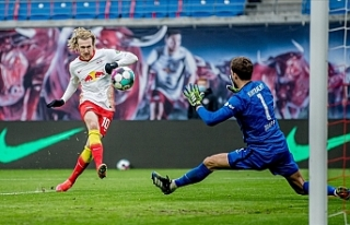 Leipzig sahasında Eintracht Frankfurt ile 1-1 berabere...