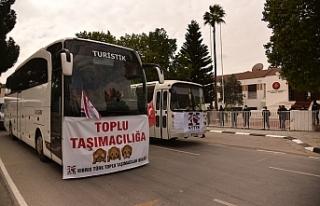 Toplu taşımacılar eylem yapıyor