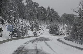 Trdodos'a kar yağdı