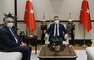 Çavuşoğlu, Fuat Oktay ile görüştü