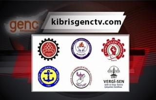 Ercan'da süresiz greve gidiliyor
