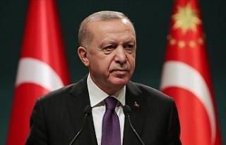 """Erdoğan: """"2023 ve gelecek hedeflerimize emin..."""