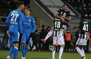 Erzurumspor - Beşiktaş maçında 6 gol