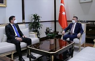 Fuat Oktay, Maliye Bakanı Dursun Oğuz'u kabul...