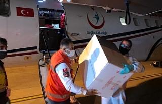 Türkiye'nin gönderdiği 40 bin doz aşı daha...