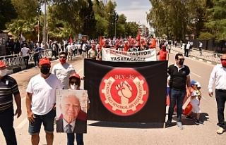 1 Mayıs işçi bayramı yürüyüşü ve ortak mitingi...