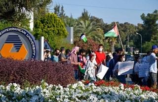 DAÜ'de İsrail protestosu