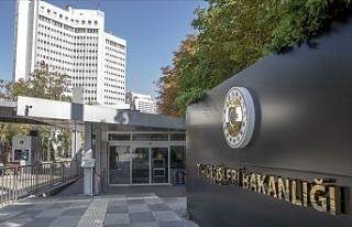 """Türkiye Dışişleri Bakanlığı: """"İsrail'in..."""