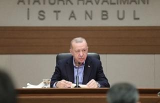 Erdoğan'dan , Biden görüşmesi öncesi açıklama
