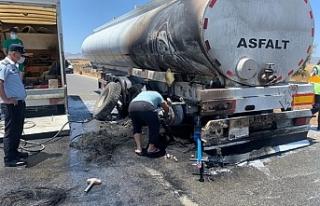 Gazimağusa-Lefkoşa Anayolu üzerinde araç yangını