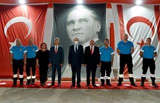 Tatar, halk örgütü mükelleflerinin terhis törenine...