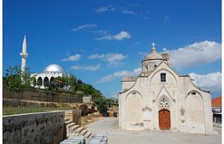 Agios Synesios Kilisesi'nde koruma çalışmaları...