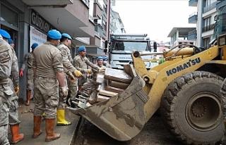 Arhavi'de hasar tespit ve temizlik çalışmaları...
