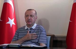 """Erdoğan: """"Kıbrıs Türk Devletinin geniş tanınırlığa..."""