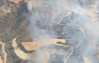 Baf'a bağlı Skulli köyü yakınlarında yangın...