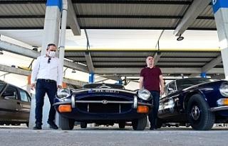 Klasik arabalar Merkez Lefkoşa'da sergilendi