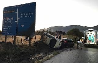 Lefkoşa - Girne anayolunda kaza