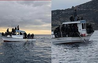Rum Liman Polisi 45 mülteci taşıyan iki tekne durdurdu
