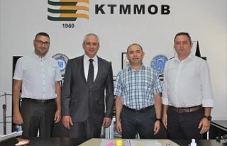 Taçoy, KTMMOB'yi ziyaret etti