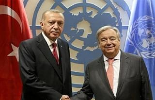 Erdoğan- Guterres görüşmesine ilişkin açıklama