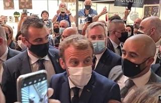 Fransa Cumhurbaşkanı Macron yumurtalı saldırıya...