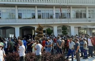 Gazimağusa Belediyesi'nde grev