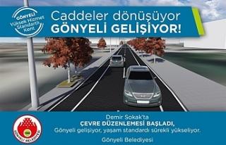 Gönyeli'de Demir Sokak Çevre Düzenleme Projesi'nin...