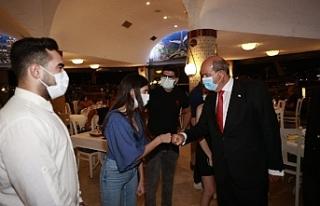 Tatar, KKTC'li öğrenciler ile bir araya geldi