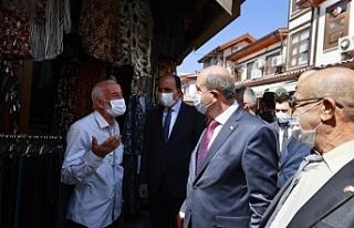 Tatar, Konya'da esnaf ile bir araya geldi