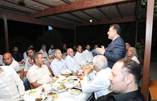 Saner, Güzelyurt'ta UBP örgüt başkanları...
