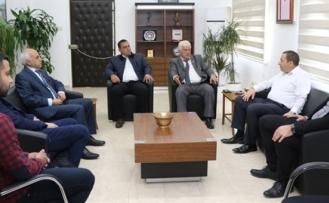 Denktaş, Kıbrıs Türk Futbol Federasyonu ile KKTC Futbol Kulüpler Birliği heyetini kabul etti