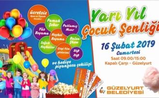 Güzelyurt Belediyesi'nden çocuklar için Yarı Yıl Şenliği
