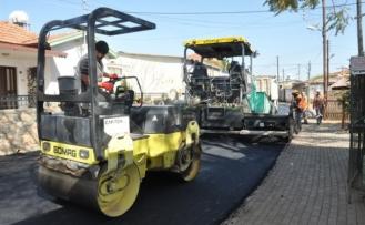Aydınköy'de asfaltlama çalışması