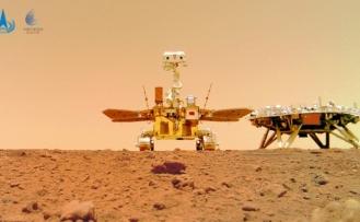 Çin'in Mars gezgin aracı Curong, Kızıl Gezegen'den fotoğraf gönderdi