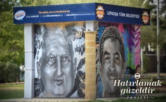 Lefkoşa'nın simge isimleri duvarlarda