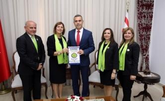 Uluçay, Kuzey Kıbrıs Lions Kulüpleri Federasyonu Yönetim Kurulu ve Onur Kurulu üyelerini kabul etti