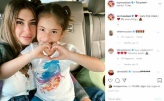 Şeyma Subaşı koronavirüs nedeniyle aylardır ayrı kaldığı kızı Melisa'ya kavuştu