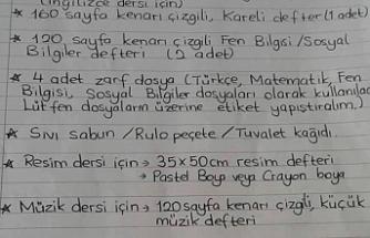 DEVLET OKULUNDA 'İHTİYAÇ LİSTESİ TEPKİ ÇEKTİ